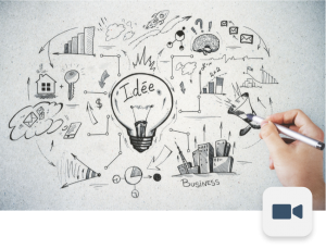 Hand drawing business sketch on light concrete background. Brainstorm and finance concept